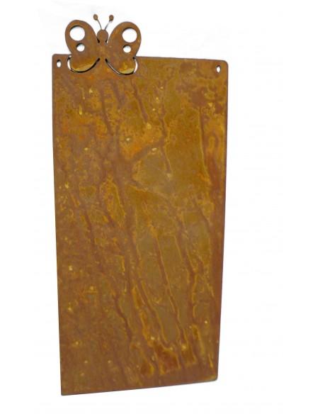 Blanko Rostschild Groß Motiv Schmetterling  50 x 25 cm