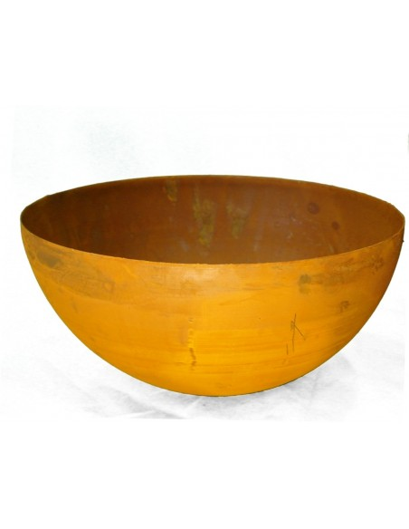 Edelrost Halbkugel Schale 60 cm Ø