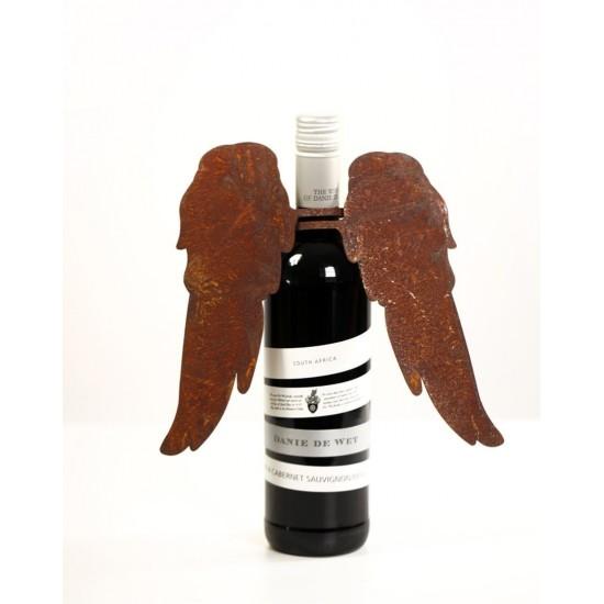 Flaschen weihnachtlich dekorieren mit Flügeln