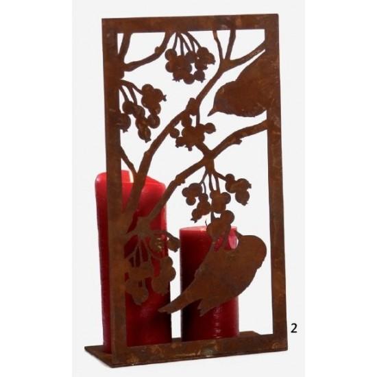 Bild 2 Vögel mit Beeren auf Platte H 33cm, B 17,7cm,