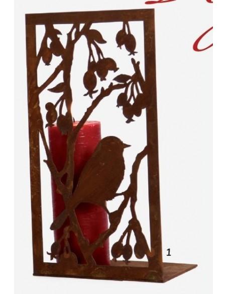 Bild Vogel mit Beeren auf Platte  H 33cm, B 17,7cm,