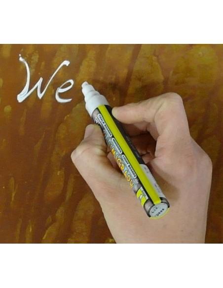 Tafelkreide Stift weiß - Wasserfeste Beschriftung für Schilder z.B. Restaurant