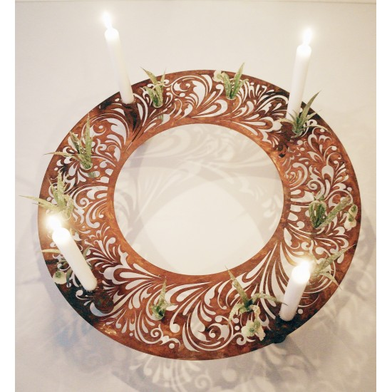 Barock Kerzen / Reagenzglasring Ø 50 cm