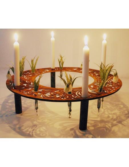 Tischdeko Barock Kerzen / Reagenzglasring Ø 50 cm
