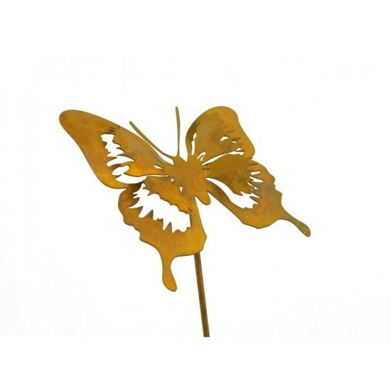 Gartenstecker Schmetterling Edelrost