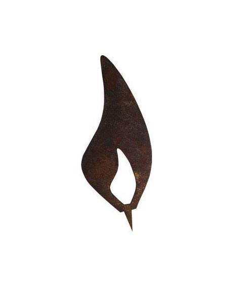 Rostflamme 10 cm zum Kerzen basteln