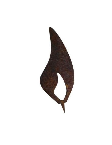 Rostige Metallflamme 20 cm Rostflamme