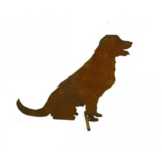 Deko Hund - Hofhund als kleine Gartenfigur