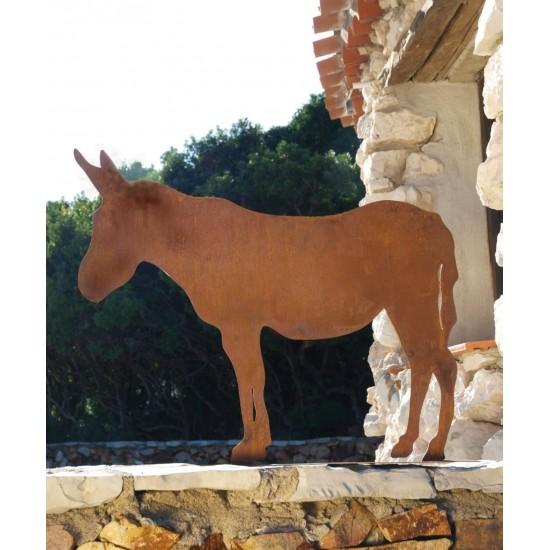 Gartendeko Esel Metall