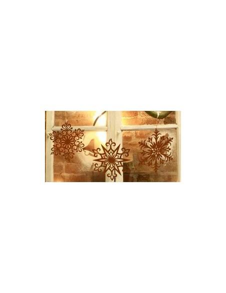 Fensterdeko Weihanchten Schneeflocken