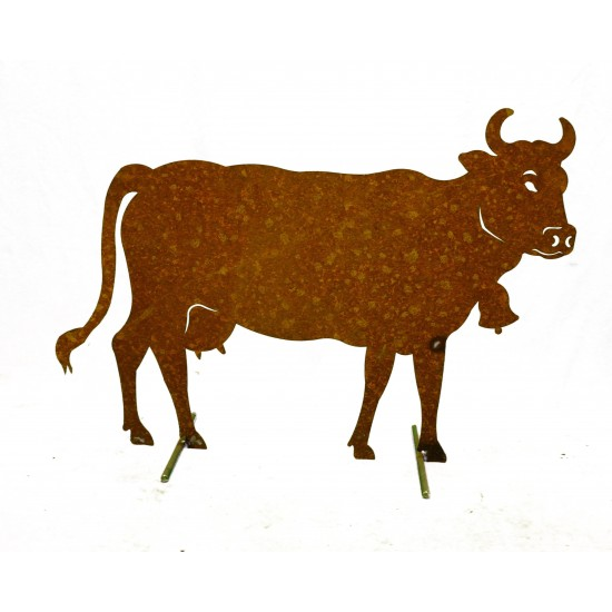 Große Kuh Metall rostig - Allgäu Deko Kühe