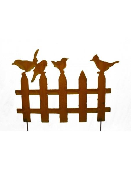 Rost Vogelzaun 50 cm Breit 2 Varianten zum stecken