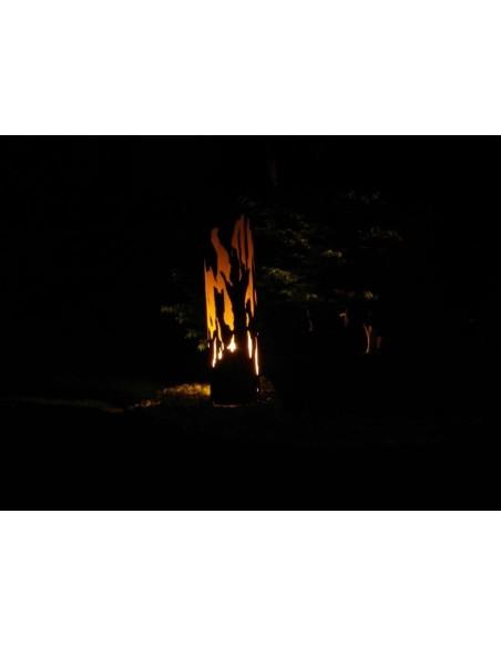 """Treibholzsäule"""" Säule mit tief eingesetztem Boden"""