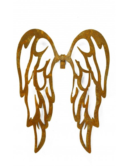 Deko Engelsflügel aus Edelrost zum einhägen in Gläser und Vasen