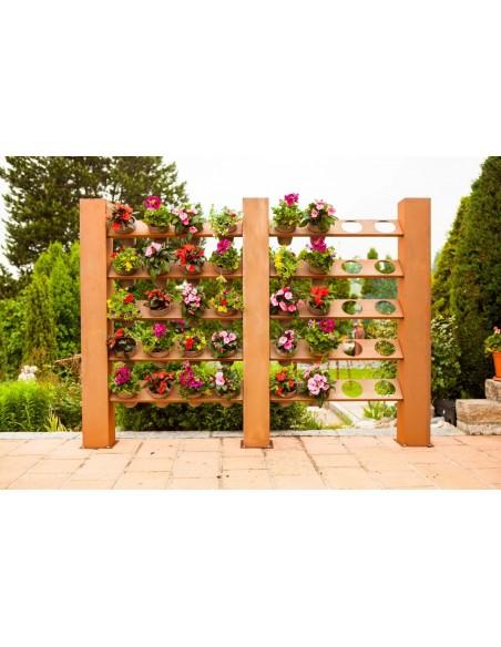 Metall sichtschutz vertikaler Garten