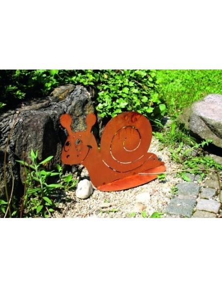 Geschenk für Gartenliebhaber Deko Schnecke Metall