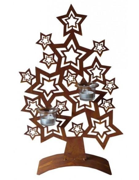 Edelrost Sternenbaum 75 cm hoher Dekobaum aus Metall