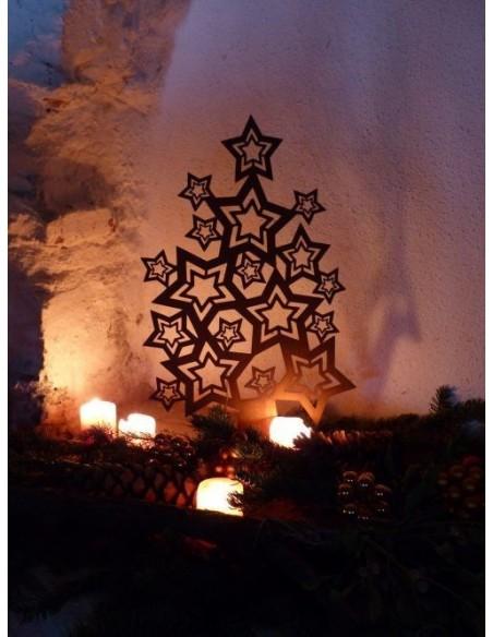 Metall Weihnachtsbaum mit Teelichtern