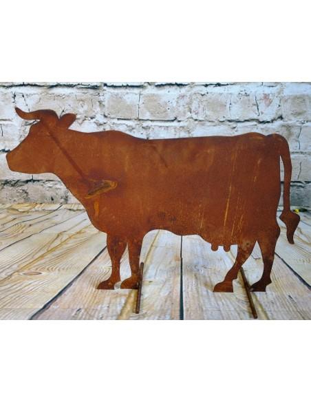 Bauernhof Tier Kuh stehend seitlich, mittelgroß, 58 cm lang, 41 cm hoch