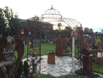 Gartenpavillon aus Metall als Gartendeko Rost Rankpavillon und wetterfeste Pavillon beim Metallmichl kaufen