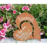 Gartendeko Rost: Einzigartige Dekoration für Deinen Garten z.B. Gartenschild Herz mit Spruch über Freundschaft